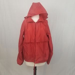 Vintage Eddie Bauer Red Nylon Windbreaker